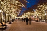 Blurred Peopleon Unter Den Linden Boulevard, Berlin, At Christmastime Royalty Free Stock Photo, Pictures, Images And Stock Photography. Image 7669981.