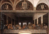 The Last Supper 1498 Leonardo Da Vinci | Oil Painting Reproduction | 1st-Art-Gallery.com
