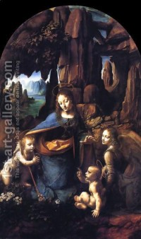 Virgin of the Rocks 1495-1508 Leonardo Da Vinci | Oil Painting Reproduction | 1st-Art-Gallery.com