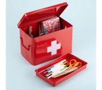 Kids Storage: Kids Red Medicine Storage Box in Craft Storage