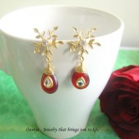 Snowflake with red kundan - Craftsia - Indian Handmade Products & Gifts