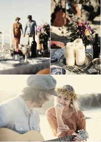 Bohemian Beach Love Shoot by The LANE Event Styling | Style Me Pretty