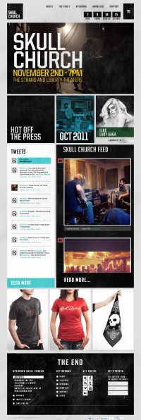 Ministry CSS – A CSS gallery designed to inspire | Skull Church