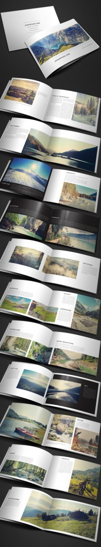 Modern Photography Portfolio, Wedding Album - Brochures - Creattica