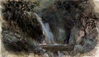 "Saatchi Online Artist: Keith Andrew; Watercolor, Painting ""Cain waterfall near Dolgellau, Wales"""