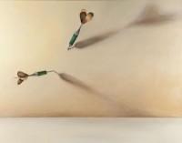 "Saatchi Online Artist: Lex Hade; Oil, 2011, Painting ""Two Darts"""