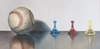 "Saatchi Online Artist: Lex Hade; Oil, 2011, Painting ""Baseball and Boardgames"""