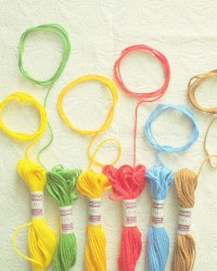 Rainbow Loops Fine Art Photography Sewing Threads by happeemonkee