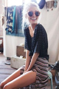 Fancy - Color Stripe Maxi Skirt