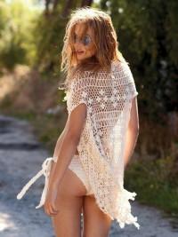 Fancy - Tassel Vest and Knotty Bikini by Anna Kosturova
