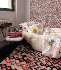 Dorm DIY: Iron-Transfer Floral Duvet Cover | Design*Sponge