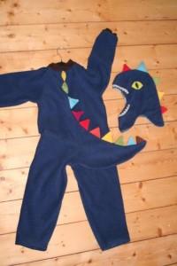Dino Kostüm aus Fleece *warm* Drache *Gr S,M,L - childs von dani_k - Kostüme für Kinder - Karneval & Fasching - DaWanda