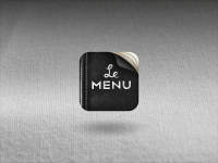 Le Menu - Icon Design - Creattica