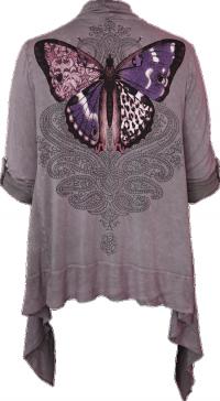 Flutter (Haze, Draped Cardigan) — Idylle Clothing