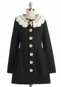 Knitted Dove Victorian Tea Coat | Mod Retro Vintage Coats | ModCloth.com