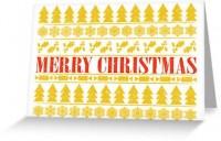 """""""Christmas Merry!"""" Greeting Cards & Postcards by fimbis   Redbubble"""