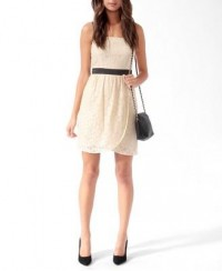 Satin Trim Lace Dress | FOREVER21 - 2000031553