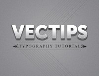 Create a Polished Raised Type Treatment in Illustrator | Vectips