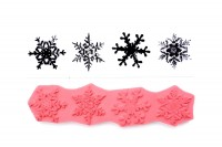 Snowflakes Stamp with Four Snowflakes Rubber Cling by ThirdShift