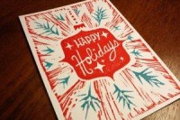 Woodcut Holiday Card « Papers & Packages