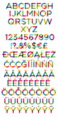 Free fonts - Multicolore | Fontfabric™