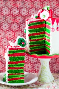 Whimsical Eggnog Christmas Cake - Bakingdom