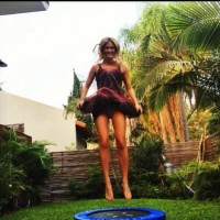 Bar Refaeli Upskirt Jumping on Trampoline | Celebrity pictures, gossip, movie and music at MakeUsHot.Com