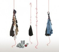 RobeRope Hangers by Club Cocage reinvent hangers for messy folks   Designbuzz : Design ideas and concepts