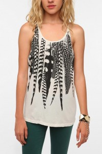 Title Unknown Falling Feather Crossback Tank Top - Urban Outfitters