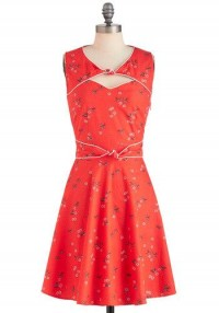 Good Ol' Daisy Dress in Strawberry | Mod Retro Vintage Dresses | ModCloth.com