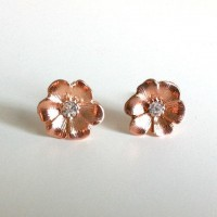 Rose Gold Flower Blossoms by EridaneasBoutique on Etsy