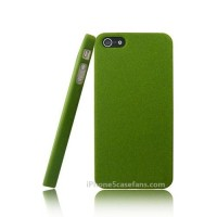 Quicksand Case for iPhone 5 with Green Hard Cover- iphone5casefans.com