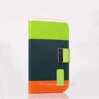 KALAIDENG Side Flip case for iPhone 5 with Green Cover - iphone5casefans.com