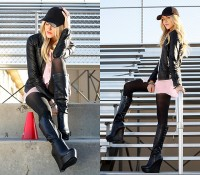 "Steve Madden Boots, Mango Jacket, Equipment Shirt // ""Pink Ladies"" by Shea Marie // LOOKBOOK.nu"