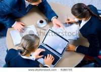 Image Of Three Business People Working At Meeting Stock Photo 9380755 : Shutterstock