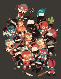 Ninjas vs Luchadores by ~DjBisparulz