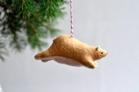 flying bear christmas ornament by MountRoyalMint on Etsy
