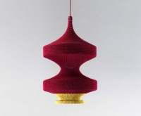Naomi Paul's Handcrafted OMI Pendant Lamps are Crocheted from Fashion Textile Scraps | Inhabitat - Sustainable Design Innovation, Eco Architecture, Green Building