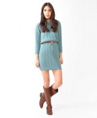Essential Cable Sweater Dress | FOREVER21 - 2025614395