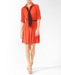 Zigzag Dress w/ Scarf | FOREVER21 - 2000018699