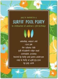 Birthday Party Invitations - Surfer Summer by Tiny Prints