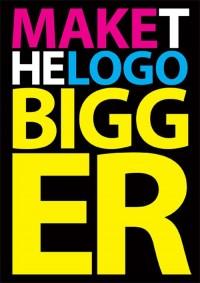 Make the logo bigger.