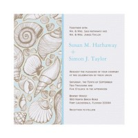 Seashell Wedding Invitation from Zazzle.com