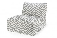 One Kings Lane - Kids' Corner - Zigzag Outdoor Beanbag, Gray