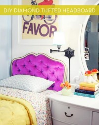 How To: Make a Diamond Tufted Headboard » Curbly | DIY Design Community