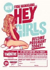 Hey Girls, become pregnant today ! – Beautiful retro posters by Timba Smits | Ufunk.net