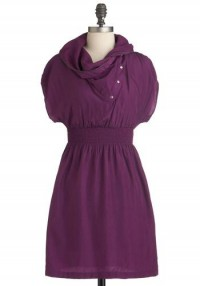 Sci Fi Heroine Dress in Plum | Mod Retro Vintage Dresses | ModCloth.com