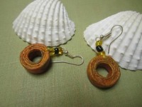 Paper Earrings - Yellow - Craftsia - Indian Handmade Products & Gifts