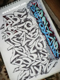 Graffiti alphabet and letters by ~KreDy