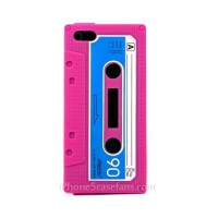 Rose Red Soft Silicone Vintage Tape Case for iPhone 5 with Hard Cover - iphone5casefans.com